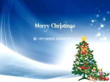 精美的圣诞树背景的圣诞节PowerPoint模板