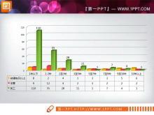 四张3d立体的PPT柱状图模板下载