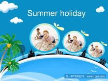 暑假海边度假旅游PPT模板下载