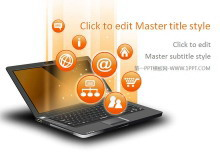 笔记本电脑社交网络电子商务PPT中国嘻哈tt娱乐平台