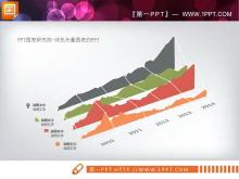 4条45度视角展示的走势分析PPT图表中国嘻哈tt娱乐平台