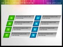 一组八节点的PowerPoint目录素材下载