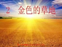 《金色的草地》PPT教学课件下载3