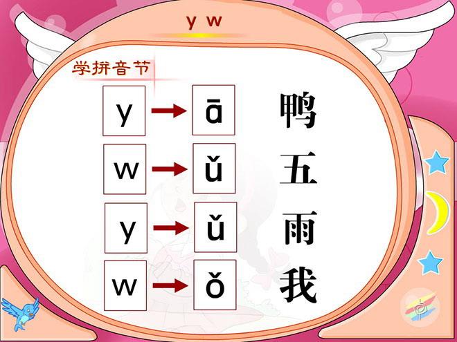 汉语拼音y w flash动画课件下载
