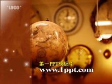 地球仪时钟背景的古典m88