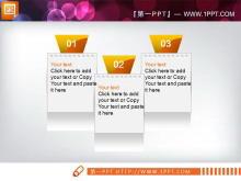 六张橙色背景的精美幻灯片图表打包下载