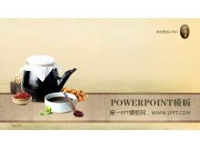 砂锅中药食材背景的中医保健龙8官方网站