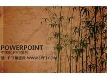 水墨竹子背景的古典中���L幻�羝�模板
