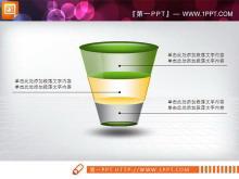 绿色PPT图表打包下载