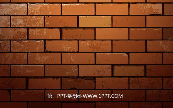 砖墙砖头幻灯片背景图片