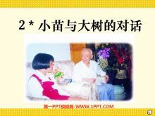《小苗与大树的对话》PPT课件下载2