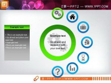 26张精美绿色商务PowerPoint图表打包下载