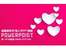 粉色心形�坌谋尘暗母卸鞴�PPT模板