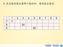 《习题课件八》表内乘法二Flash动画课件