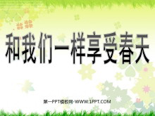 《和我们一样享受春天》PPT课件2