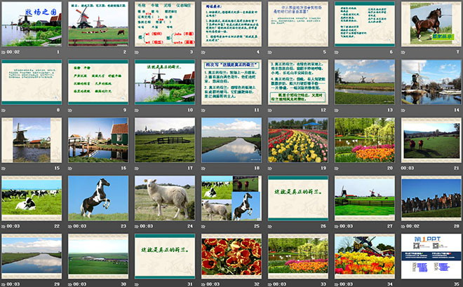 《课件之国》PPT中班4简单的语言牧场说课稿图片