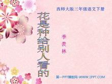 《花是种给别人看的》PPT课件