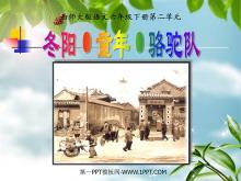 《冬阳·童年·骆驼队》PPT课件4