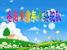 《冬阳·童年·骆驼队》PPT课件6