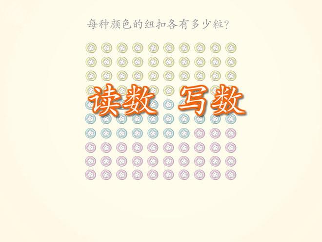 人教版一年级数学下册《读数写数》100以内数的认识Flash动画课件2