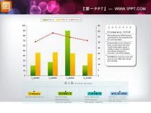 国外精美柱状图PPT图表模板下载