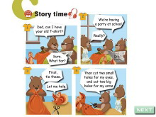 《My clothes》story time Flash动画课件