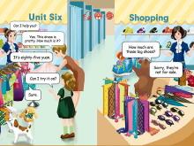 《Shopping》课文朗读Flash动画课件