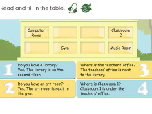 《My School》read and fill in the table Flash动画课件