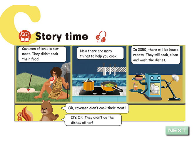 《Then and now》story time Flash动画课件