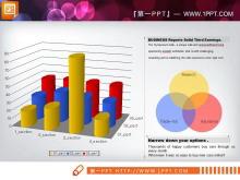 可编辑属性的3d立体PPT柱状图下载