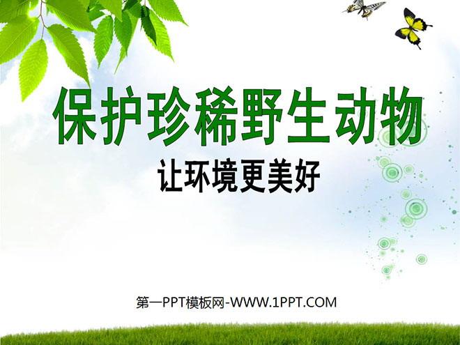《保护珍稀野生动物》ppt课件4