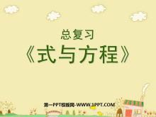 《式与方程》总复习PPT课件