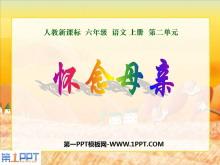 《怀念母亲》PPT课件下载3