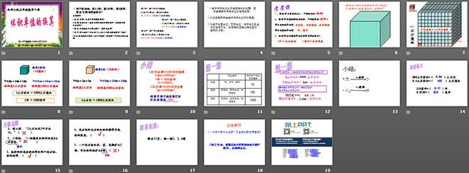 《体积单位的换算》长方体ppt课件2