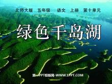 《�G色千�u湖》PPT�n件3