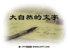 《大自然的文字》PPT课件4
