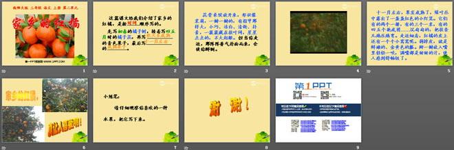 《课件的红橘》ppt家乡5小班社会五官认识教案图片