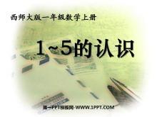 《1-5的认识》10以内数的认识和加减法PPT课件2
