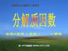 《分解质因数》因数和倍数PPT课件2