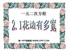 《花边有多宽》一元二次方程PPT课件2