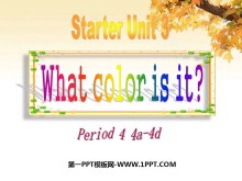 《What color is it?》StarterUnit3PPT课件4