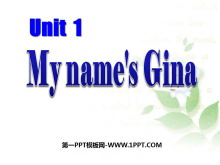 《My name's Gina》PPT课件4
