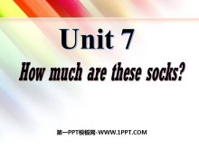 《How much are these socks?》PPT课件2