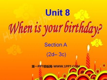 《When is your birthday?》PPT�n件6