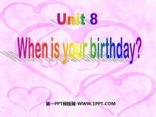 《When is your birthday?》PPT�n件8