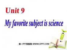 《My favorite subject is science》PPT�n件2