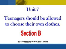 《Teenagers should be allowed to choose their own clothes》PPT�n件8