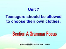《Teenagers should be allowed to choose their own clothes》PPT�n件9
