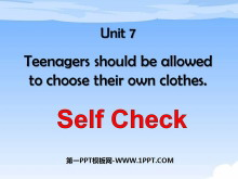 《Teenagers should be allowed to choose their own clothes》PPT�n件10