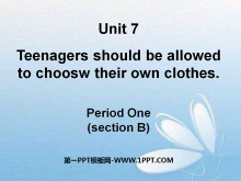 《Teenagers should be allowed to choose their own clothes》PPT�n件12